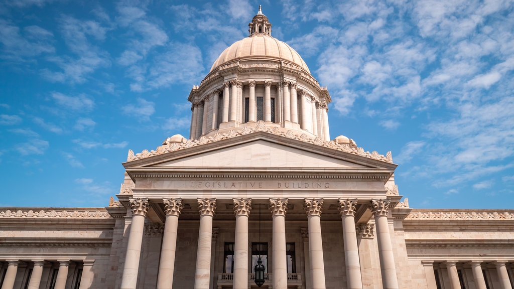 Washington State Capitol which includes an administrative buidling and heritage architecture