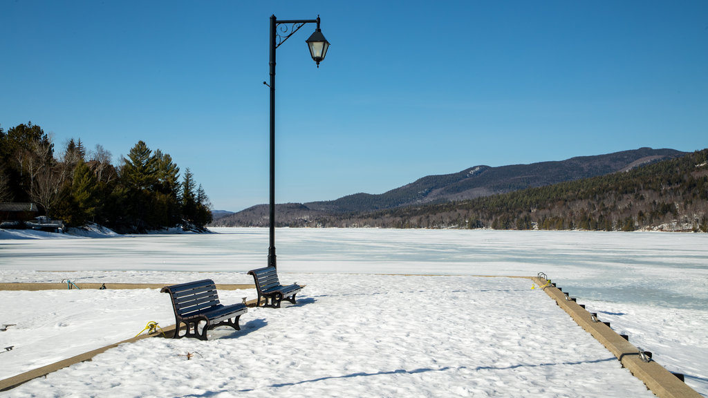 Lake Tremblant which includes snow and a lake or waterhole