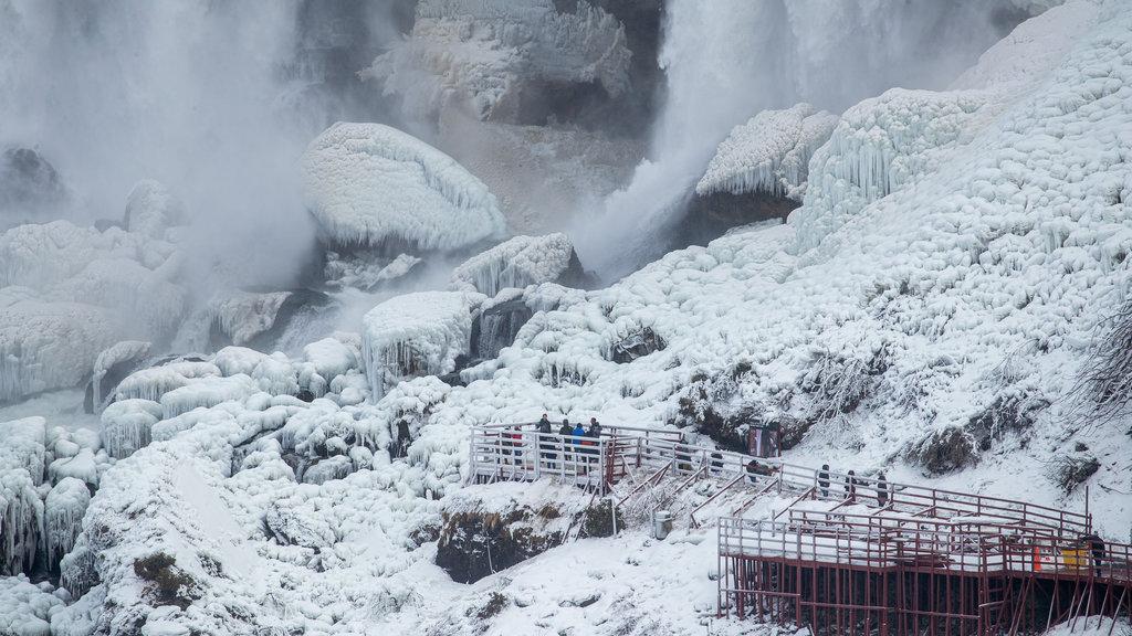 Niagara Falls , Canada featuring a waterfall and snow