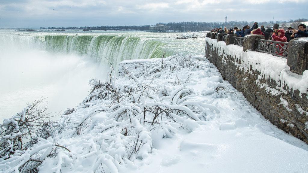 Niagara Falls , Canada featuring snow and a cascade