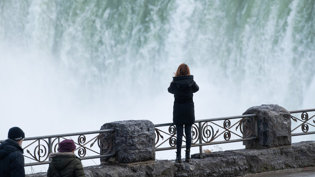 Niagara Falls , Canada featuring views and a waterfall as well as an individual femail