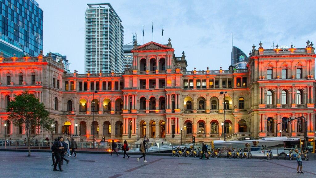 Treasury Casino featuring street scenes, a city and night scenes