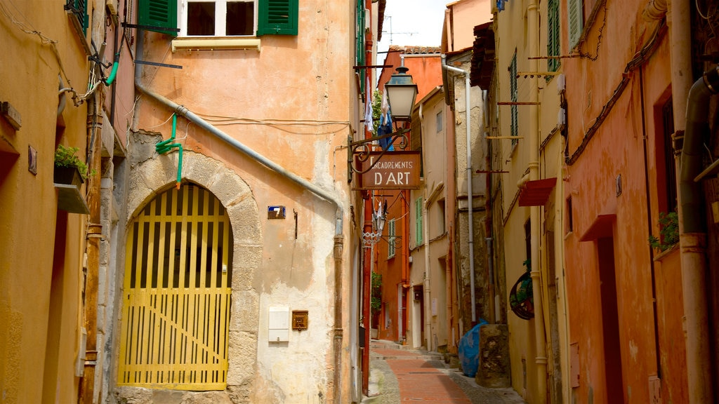 Menton showing heritage elements