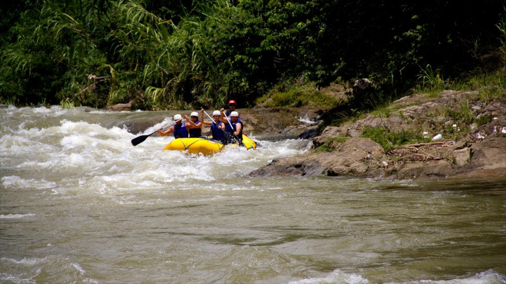 Jarabacoa which includes rafting and rapids as well as a small group of people