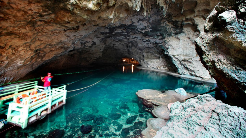 Dominican Republic featuring caves and caving as well as an individual male