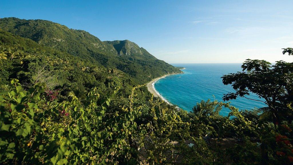 Barahona showing general coastal views, landscape views and mountains