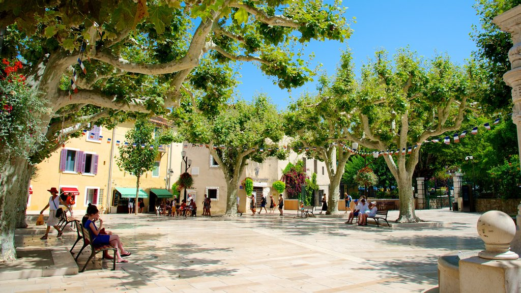 Cassis which includes a square or plaza