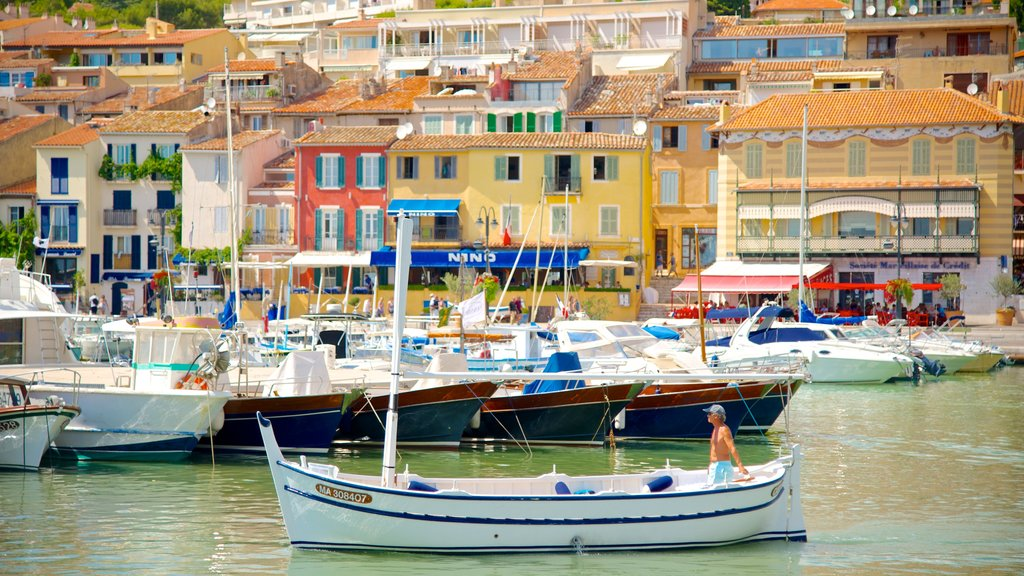 Cassis featuring a marina, boating and a coastal town