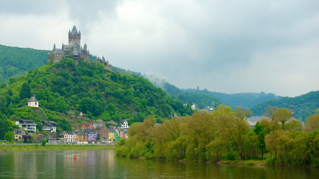 Cochem which includes chateau or palace, tranquil scenes and mountains