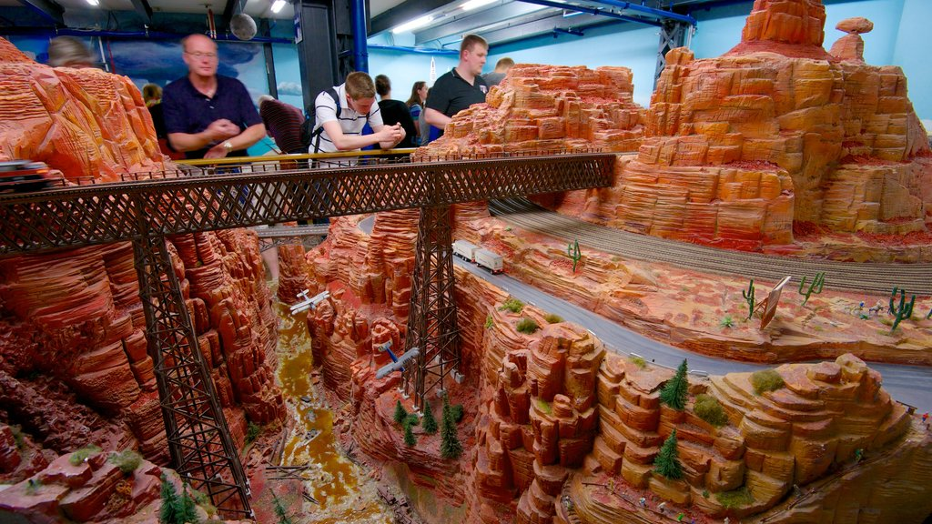 Miniatur Wunderland featuring interior views as well as a small group of people