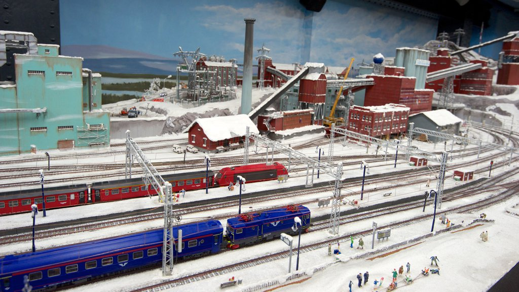 Miniatur Wunderland which includes railway items, snow and interior views