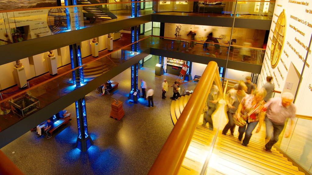 Hamburg which includes interior views