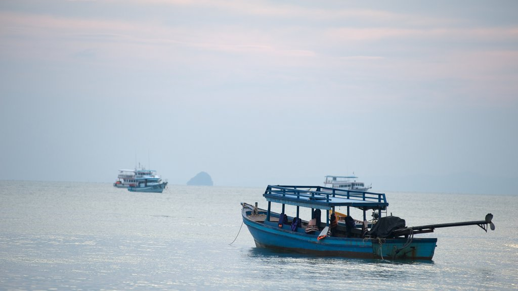 Krabi which includes a bay or harbor and boating