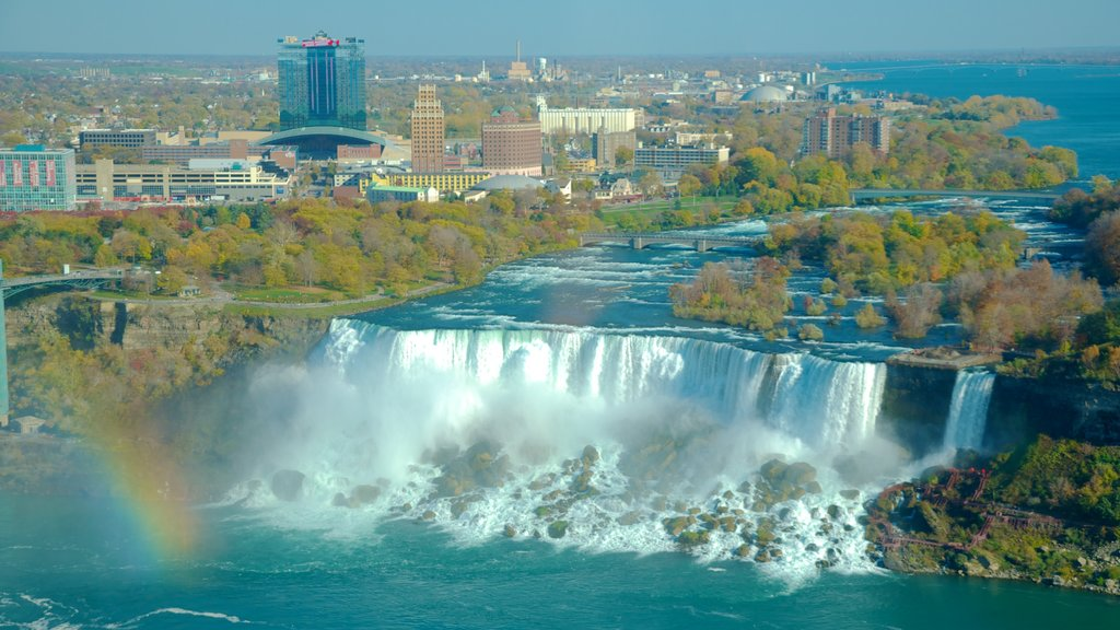 Bridal Veil Falls which includes a city, a waterfall and landscape views