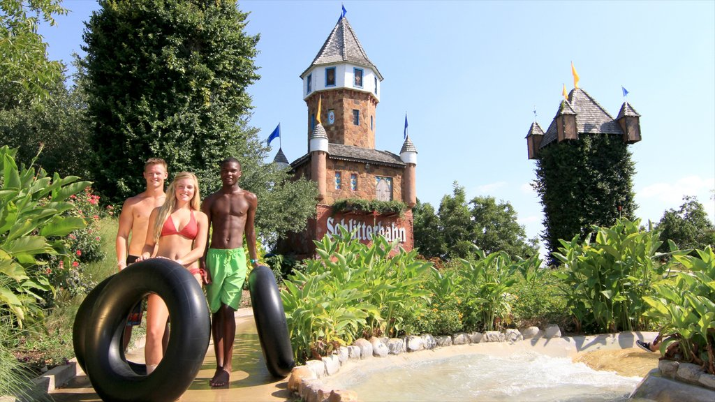 Schlitterbahn Waterpark which includes a waterpark as well as a small group of people