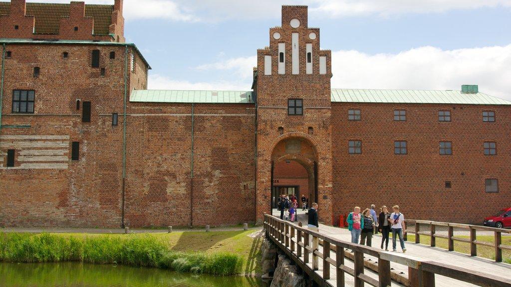 Malmo Castle showing a castle, heritage architecture and a bridge