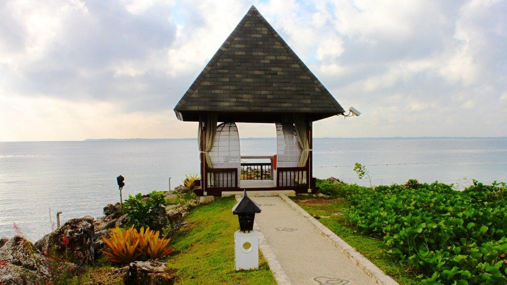 Cebu showing general coastal views, rugged coastline and views
