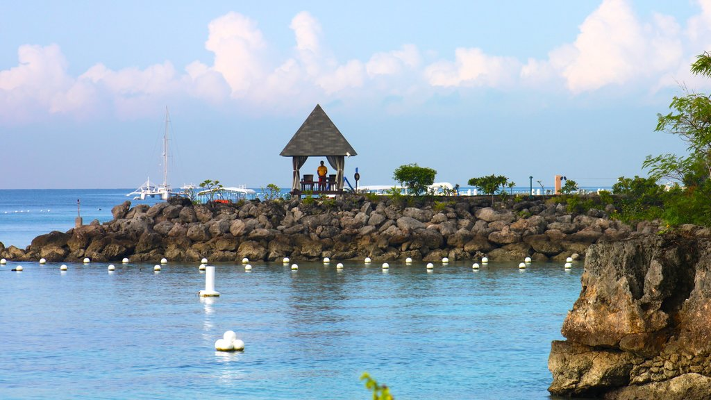 Cebu which includes rugged coastline, views and a bay or harbor