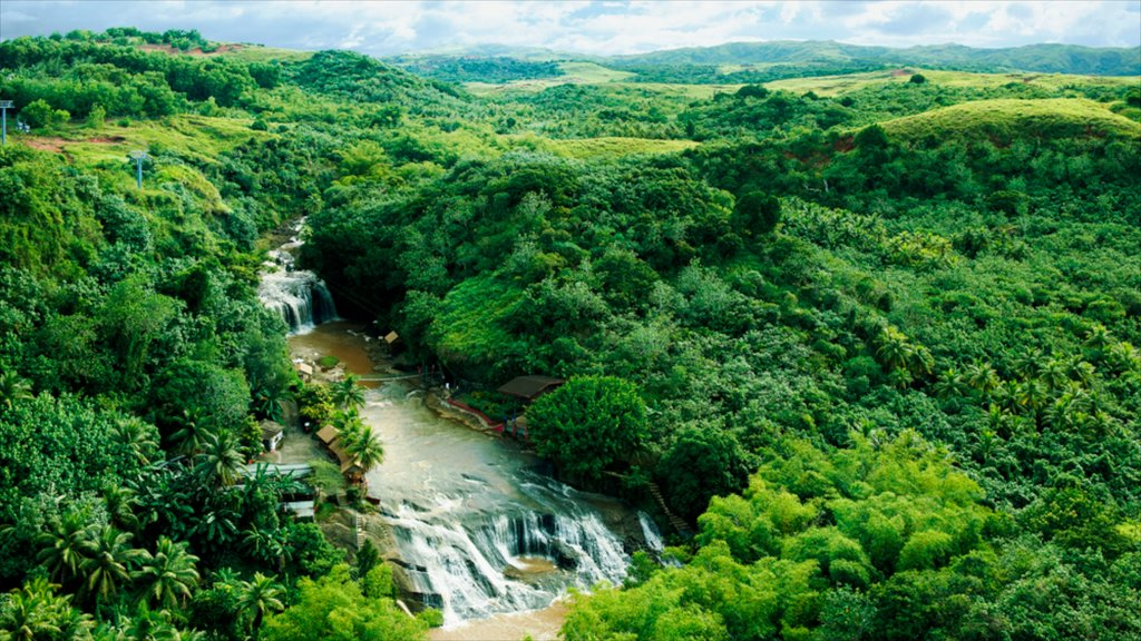 Guam featuring landscape views, rapids and a waterfall