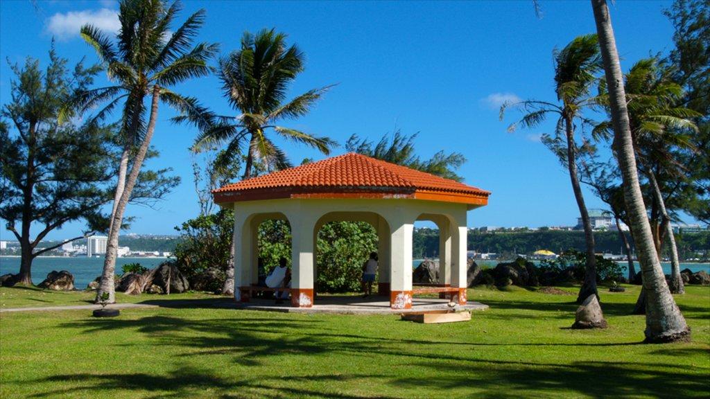 Hagatna which includes tropical scenes and general coastal views