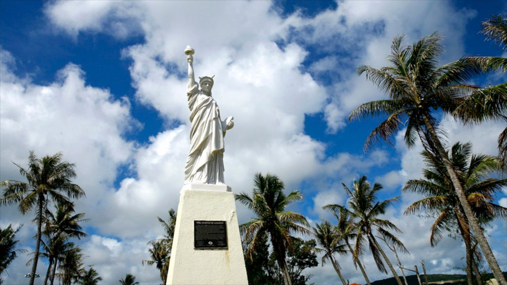 Hagatna which includes a statue or sculpture and a monument