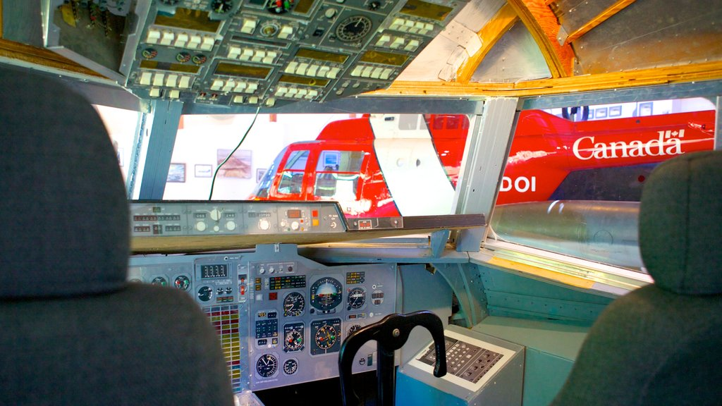 Atlantic Canada Aviation Museum which includes interior views and aircraft