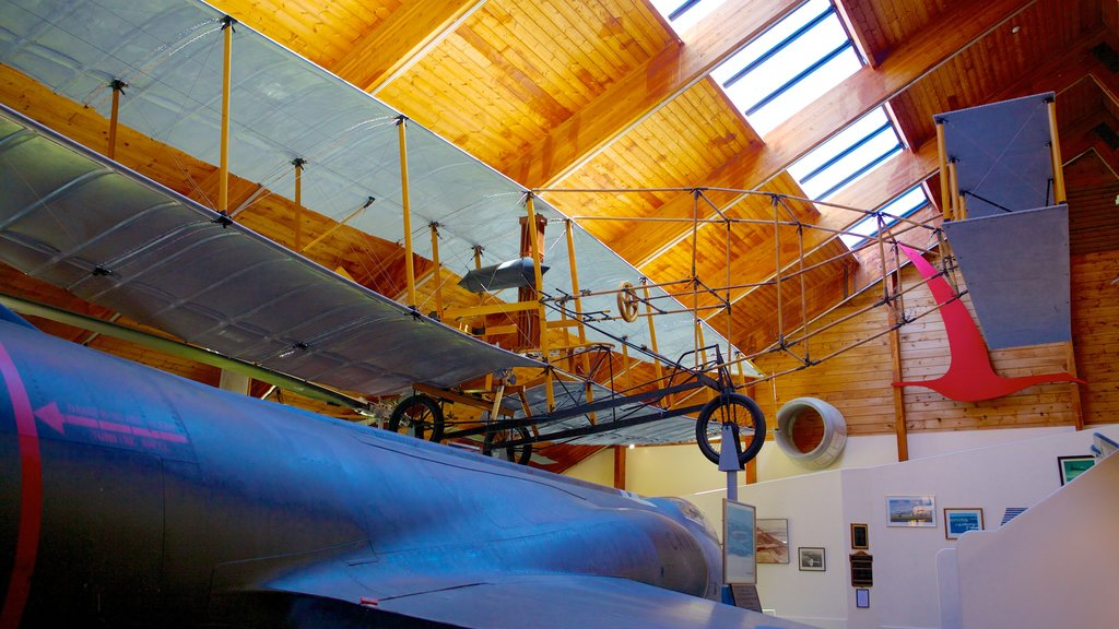 Atlantic Canada Aviation Museum featuring aircraft and interior views