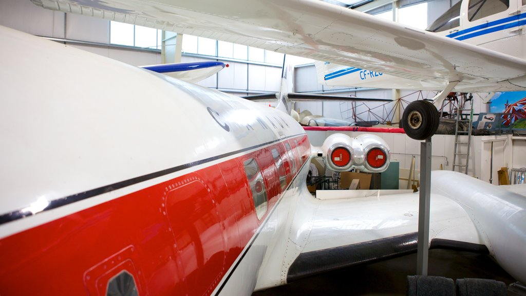 Atlantic Canada Aviation Museum which includes aircraft and interior views