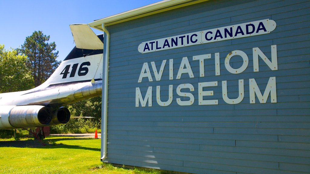 Atlantic Canada Aviation Museum which includes signage