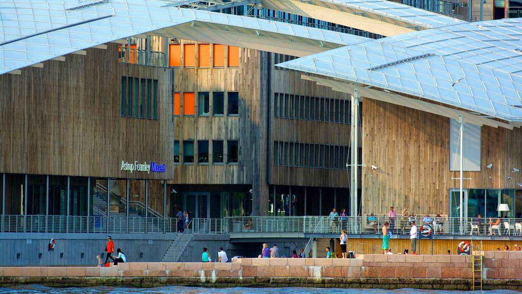 Oslo featuring modern architecture, a city and general coastal views