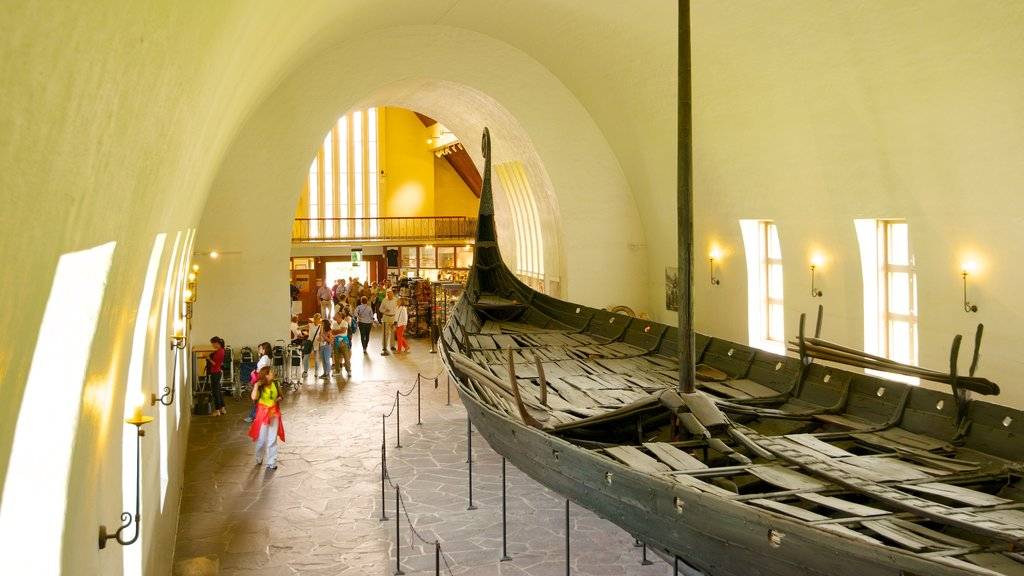 Viking Ship Museum featuring interior views