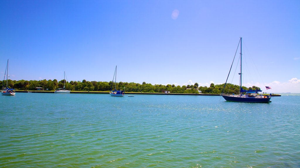Bill Baggs Cape Florida State Park showing sailing, a bay or harbor and general coastal views