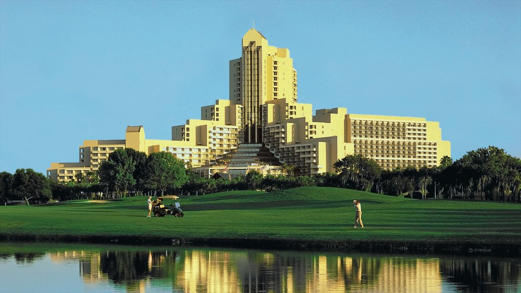 Orlando which includes a luxury hotel or resort, a pond and golf