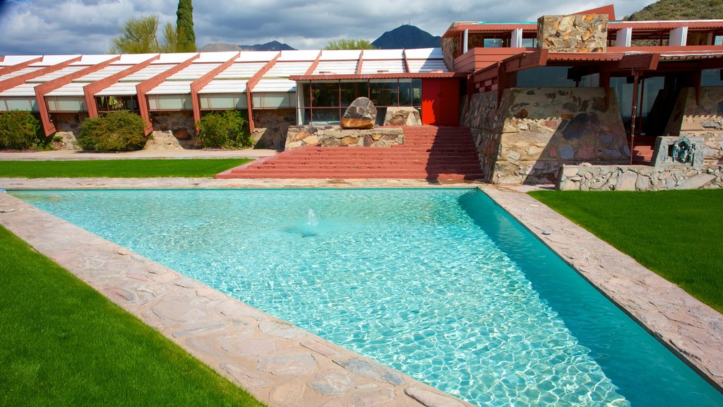 Taliesin West which includes a pool and a house