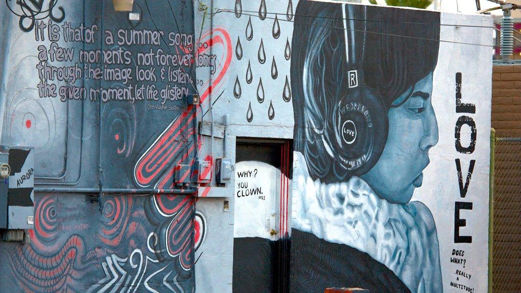 Roosevelt Row showing outdoor art
