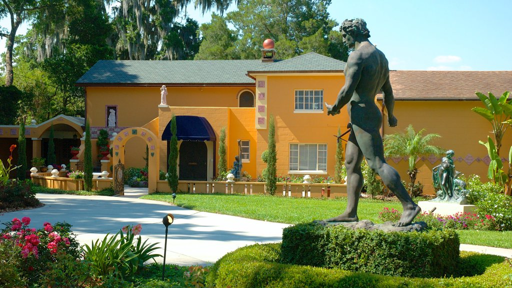 Albin Polasek Museum and Sculpture Gardens featuring a garden and a statue or sculpture