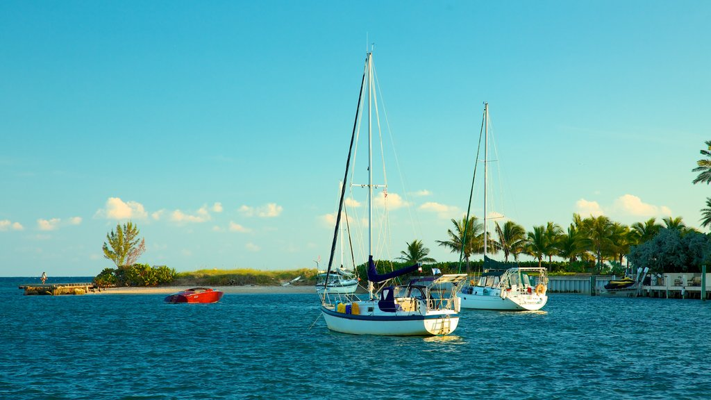 Fort Lauderdale featuring a bay or harbor, tropical scenes and sailing