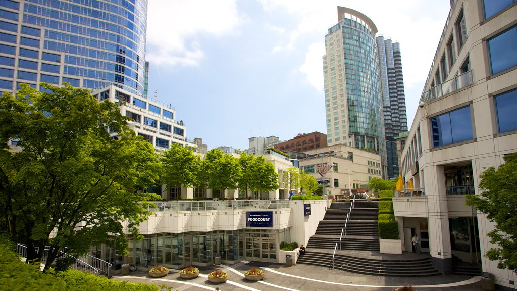 Downtown Vancouver which includes a city, a high rise building and modern architecture