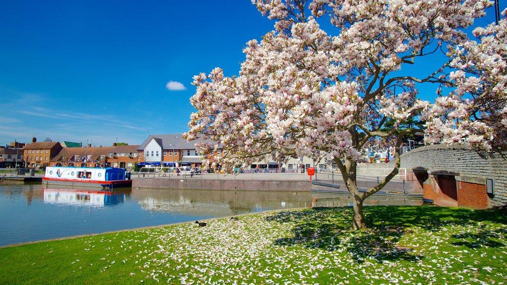Stratford-upon-Avon ofreciendo un jardín, un río o arroyo y paseos en lancha