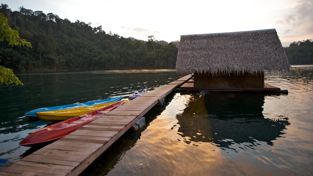 Khao Lak showing kayaking or canoeing, a lake or waterhole and a house