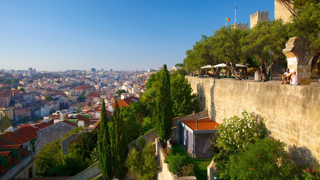 Lisbon showing views, chateau or palace and a city
