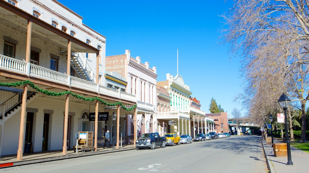 Old Sacramento which includes a city and heritage architecture