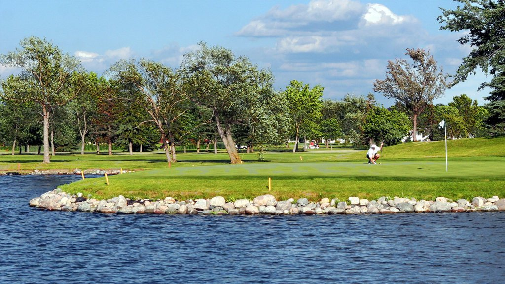 Fargo featuring golf and a pond