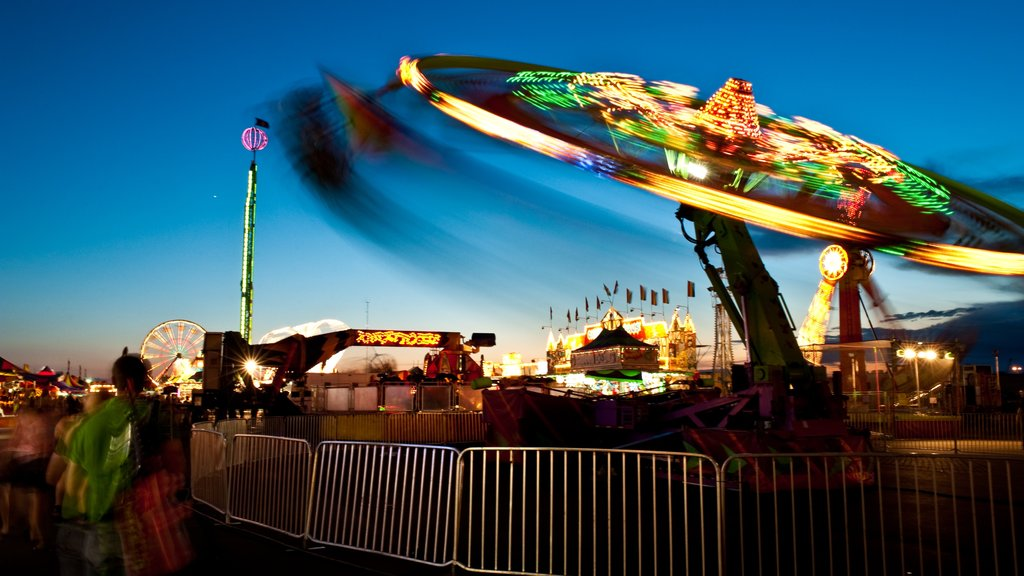 Fargo showing night scenes and rides