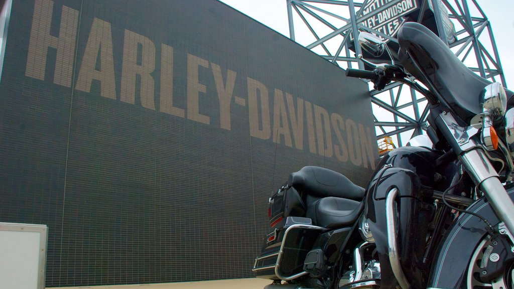 Harley-Davidson Museum which includes signage