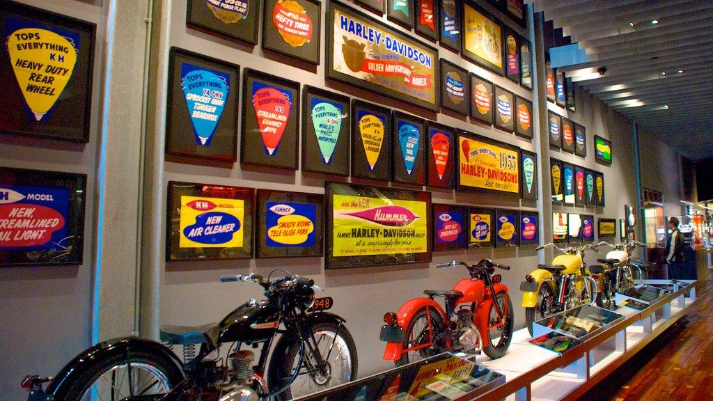 Harley-Davidson Museum showing interior views