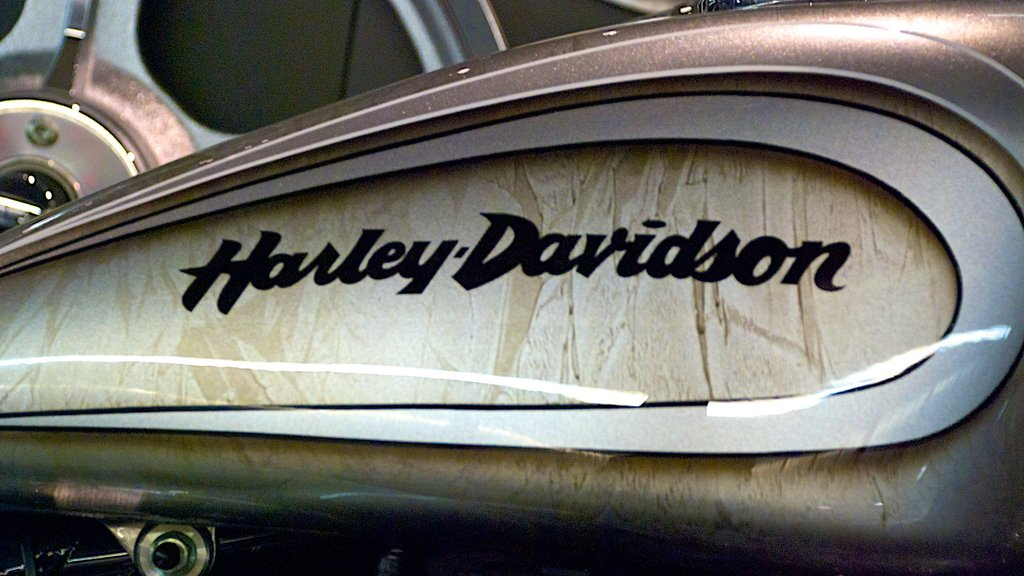 Museo Harley Davidson que incluye señalización