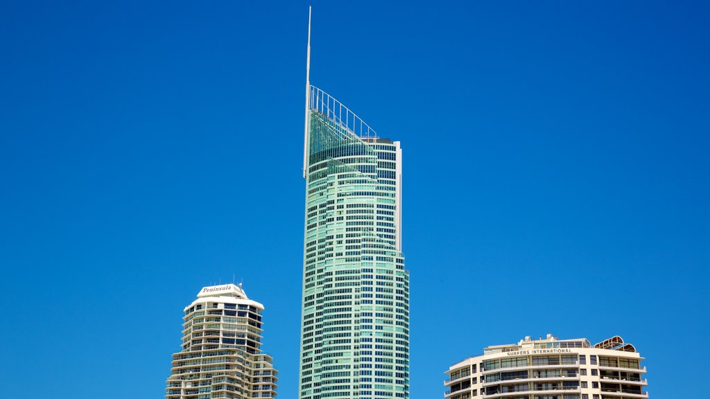 Surfers Paradise which includes a skyscraper and modern architecture