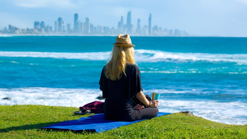 Burleigh Heads featuring a day spa, a coastal town and general coastal views