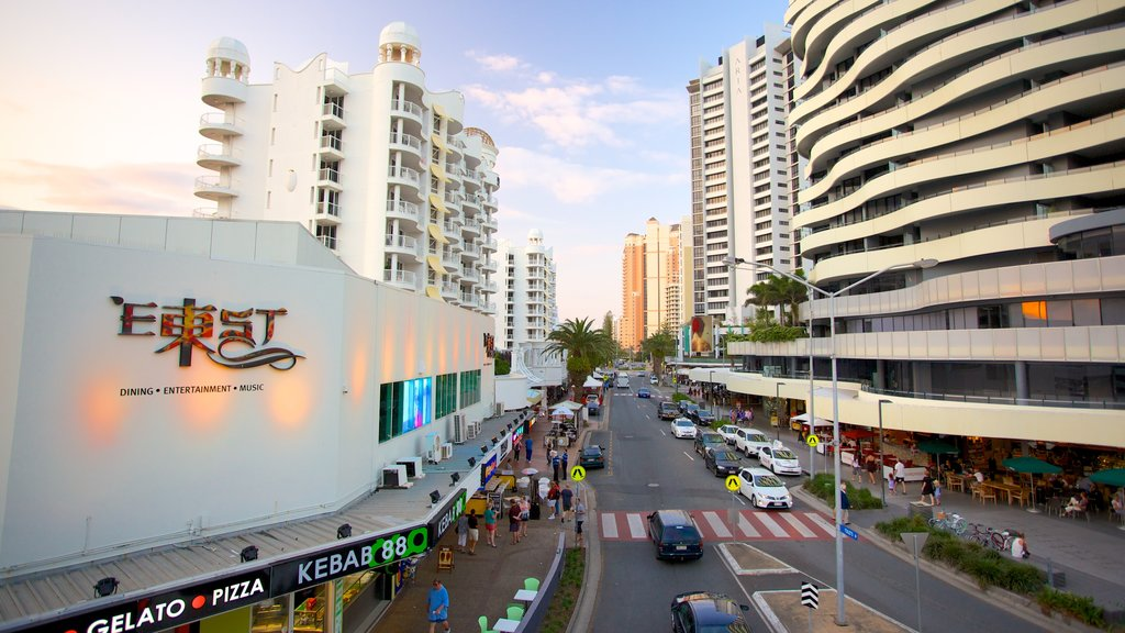 Broadbeach featuring a city, street scenes and modern architecture